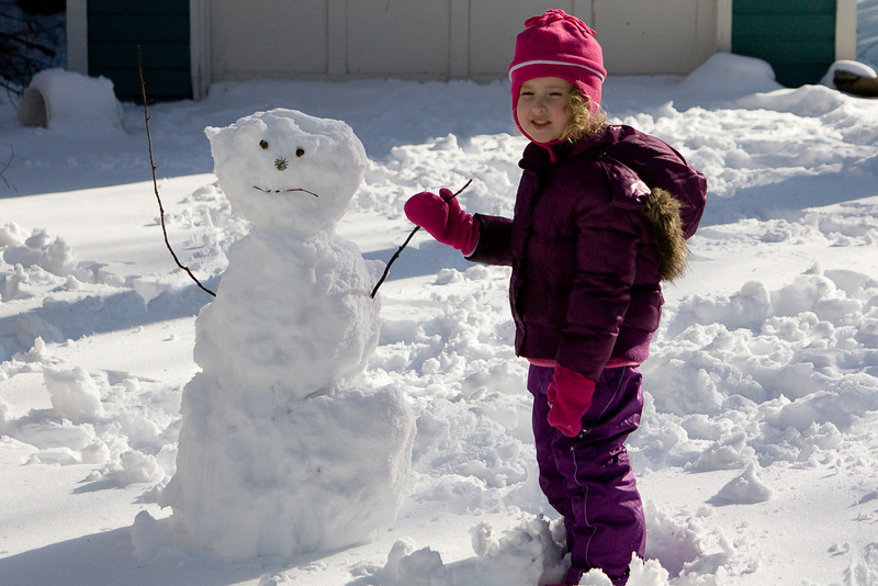 Beverly and her snowman
