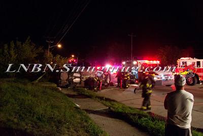 Massapequa F.D. Overturned Auto Merrick Rd at Alhambra Rd 8-10-11