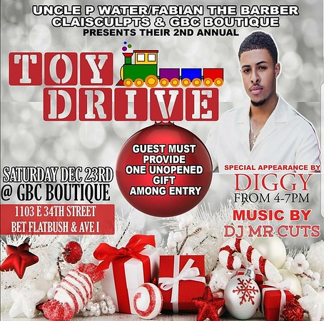 DIGGY SIMONS TOY DRIVE AT GCB BOUTIQUE
