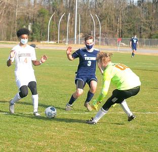 East Columbus at West Columbus boys soccer 2021