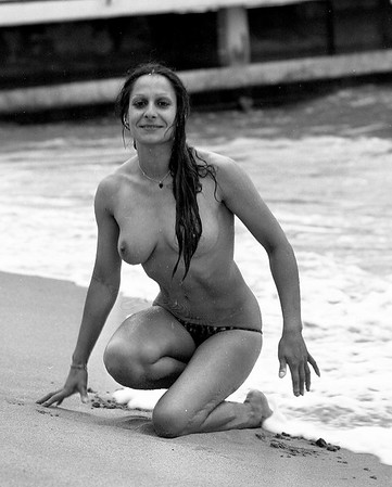My first nude photograph, 1977 Cannes film festival