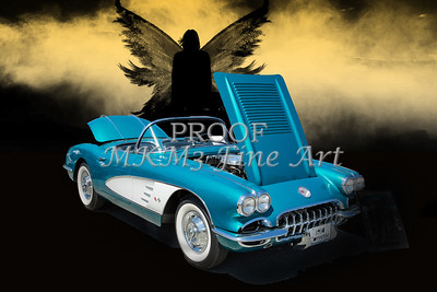 1958 Chevrolet Corvette in blue Color