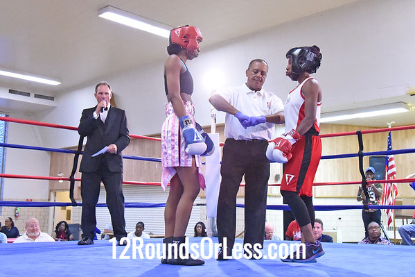 Bout 9 Asia Smith, Red Gloves, Cleveland -vs- Ahara Archie, Blue Gloves, Zelma George, Cleveland, 123 lbs Female