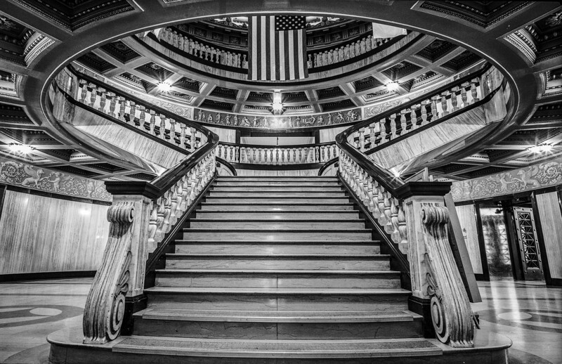 Mercer County Courthouse interior.