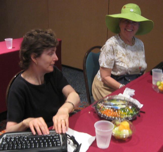ADP registrants Rachel Graff (New York, NY)and Myra Brodsky (museum describer, New York, NY).