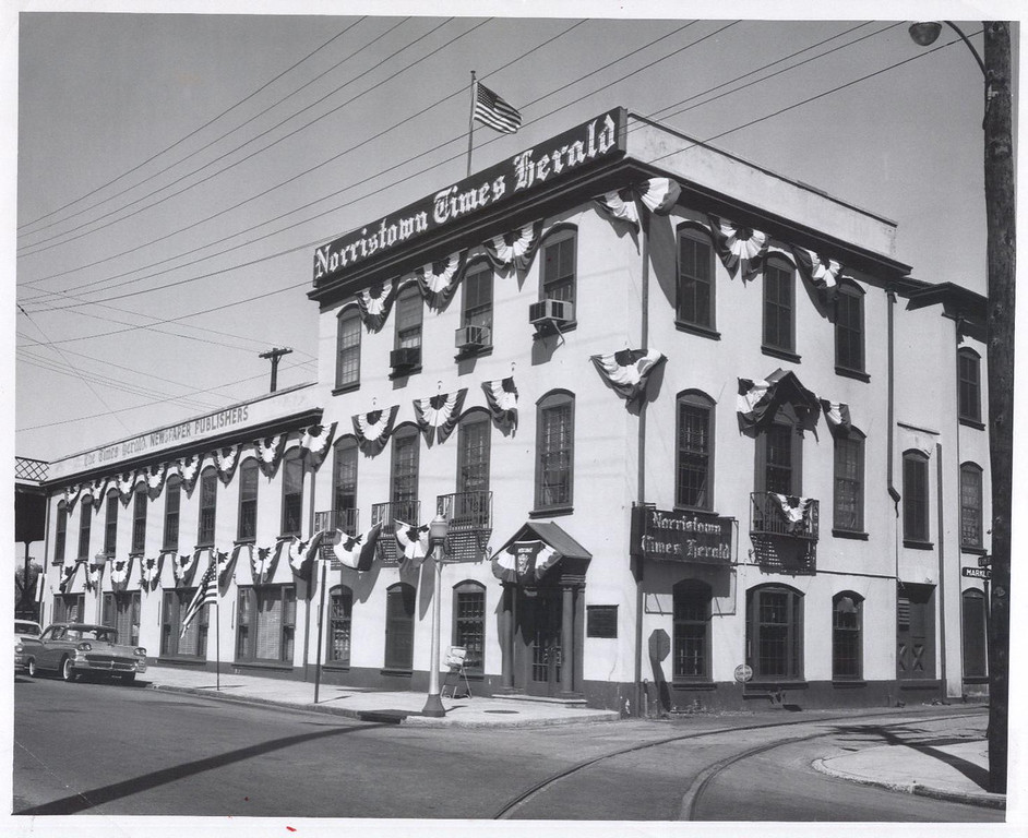 . This undated file photo shows what The Times Herald building � located at 410 Markley Street in Norristown � used to look like.