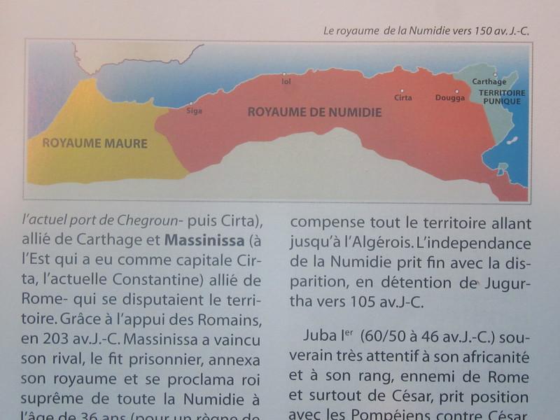 004_Numédie. 150 ans avant J.C. Aujourd'hui cela serait les pays suivant, Maroc, Algrie, Tunisie et Libye.JPG
