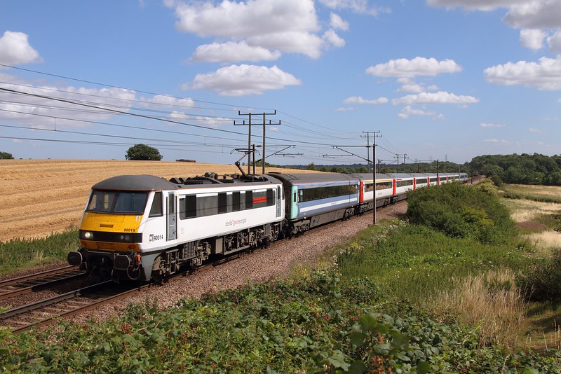 90014 on the 1P29 1030 Norwich to London Liverpool Street at Baylham on the 4th August 2015.JPG