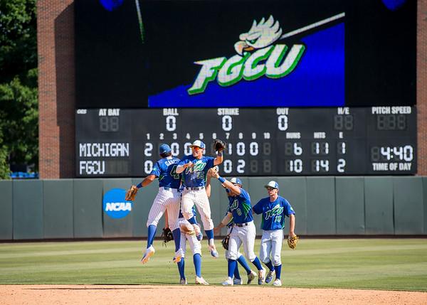 FGCU Baseball 2017 NCAA Regional Win vs Michigan