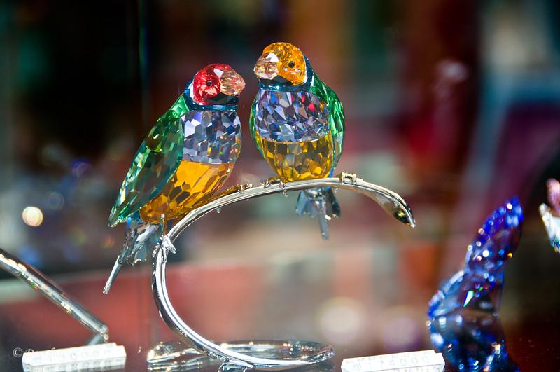 Window shopping:  Swarovski Crystal Love Birds