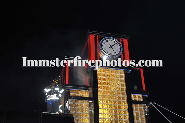 SYOSSET FD ON PARADE DINER CLOCK TOWER FIRE JERICHO TPKE