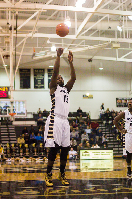 . #15 Lloyd Neely takes a free throw. Photo by Dylan Dulberg