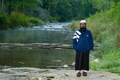 Qari Naseem at Elk River Falls