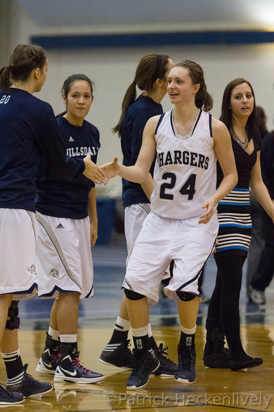 2013-02-02 Hillsdale College Women's Basketball vs. Findlay