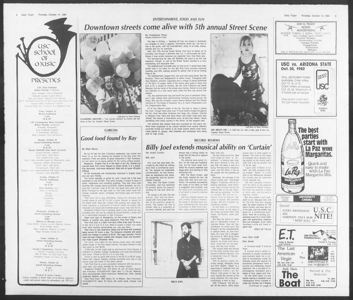 Daily Trojan, Vol. 92, No. 28, October 14, 1982