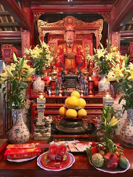 Altar to Confucius at the Temple of Literature - Hanoi