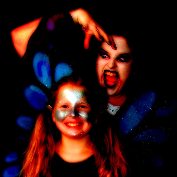 """Heavily filtered in Photoshop.  I believe this free filter is called """"Bad Dream"""". Scary mom not included."""