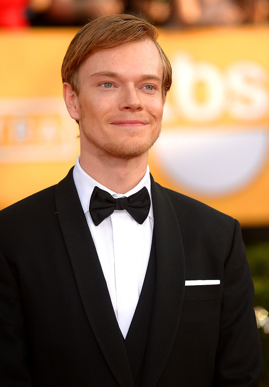 . Alfie Allen arrives at the 20th Annual Screen Actors Guild Awards  at the Shrine Auditorium in Los Angeles, California on Saturday January 18, 2014 (Photo by Michael Owen Baker / Los Angeles Daily News)