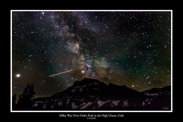 Milky Way Over Amethyst Basin in the High Uintas, Utah
