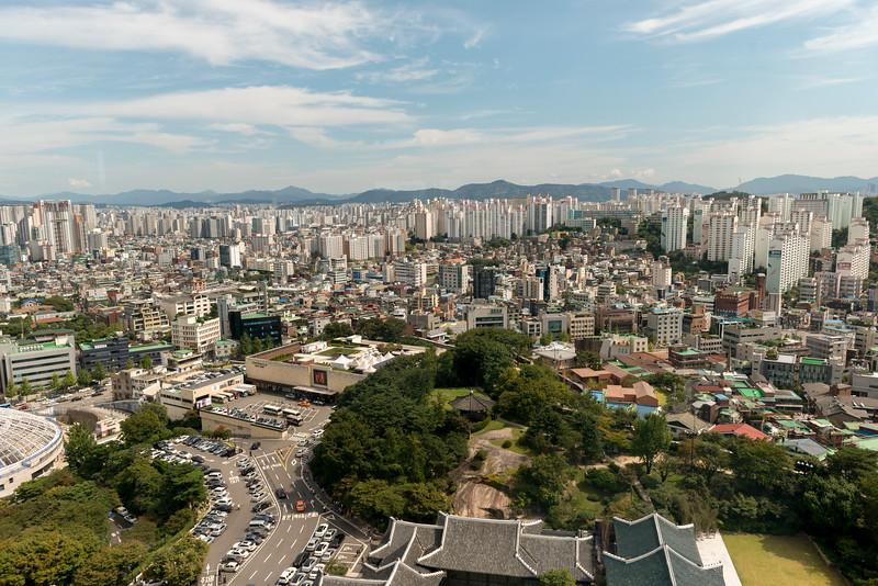 City view from Shilla Hotel, Seoul, South Korea