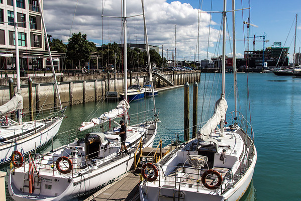 Sailing in Auckland Harbour (2012)