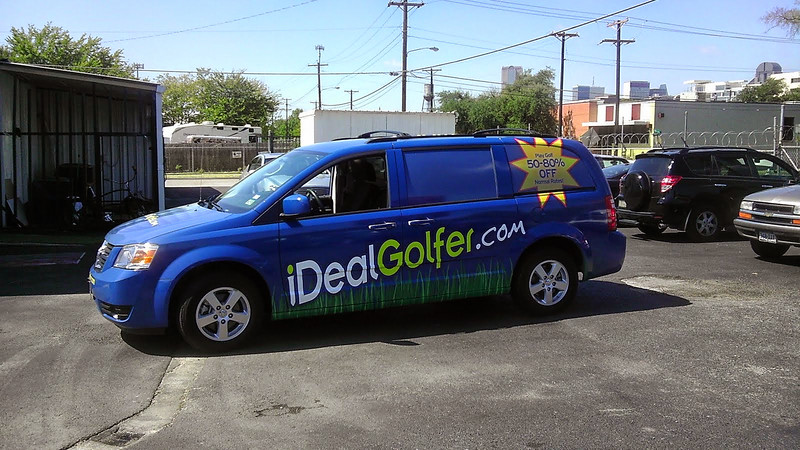 Van Wrap for iDeal Golfer in Dallas, TX www.skinzwraps.com