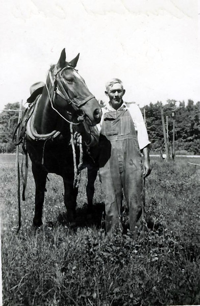 "Sanford and his horse ""Babe"""