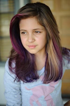 Abigail Purple Hair