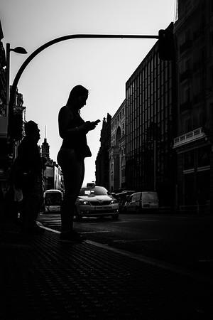 Silhouette in Callao - Madrid