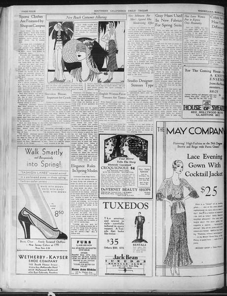 Daily Trojan, Vol. 22, No. 114, March 25, 1931