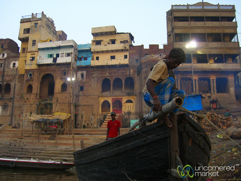 Dawn Boat Ride Along the Ganges River - Varanasi, India
