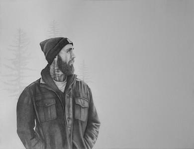 """Beholding"" (graphite) by Kelly Ferguson"