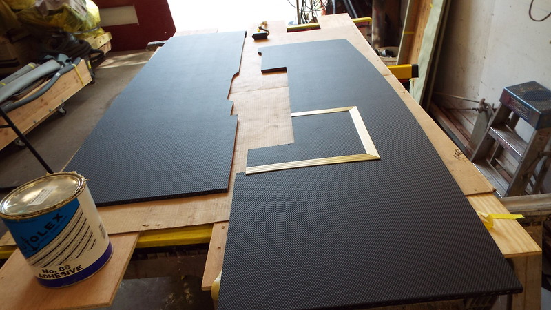Two more floor pieces completed along with anodized hatch trim installed.