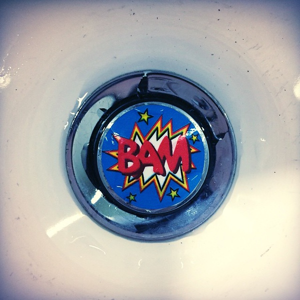 I'm pretty sure today was the first time I took a picture of a hotel sink drain.