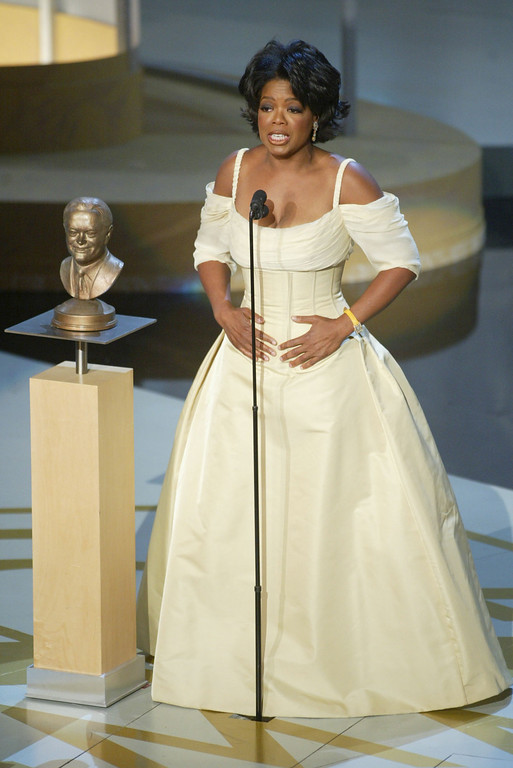. Oprah Winfrey recieves the Bob Hope Humanitarian Award at the 54TH ANNUAL PRIMETIME EMMY AWARDS, Sunday, September 22, at the Shrine Auditorium, Los Angeles, CA.   Photo by: Frank Micelotta/Getty Images