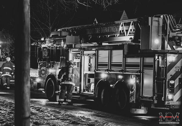 Detroit MI, House Fire 1-20-2020