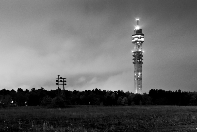 TV tower Kaknästornet / Телебашня Kaknästornet