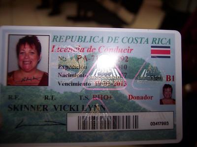 Driver License - Costa Rica