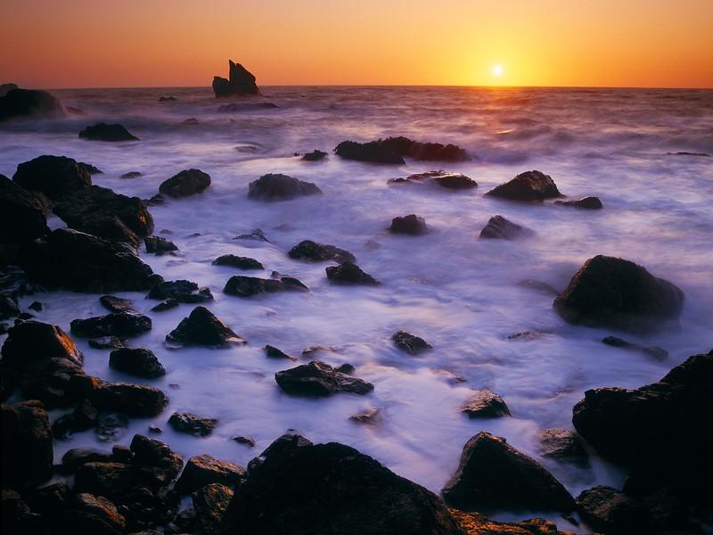 Shoreline at Sunset, Patricks Point State Park, California.jpg