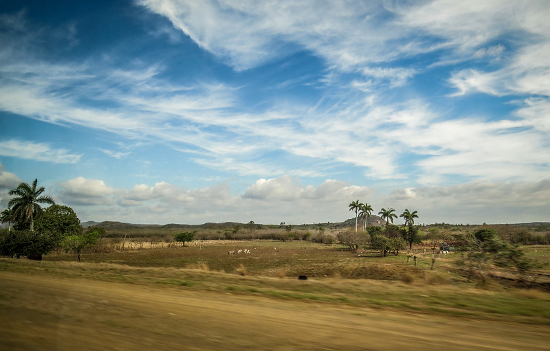 Cuban countryside from out the bus window.