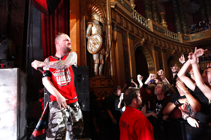 . Ivan Moody of Five Finger Death Punch performs at Fillmore Detroit on Tuesday, Oct. 2, 2013. Photo by Ken Settle