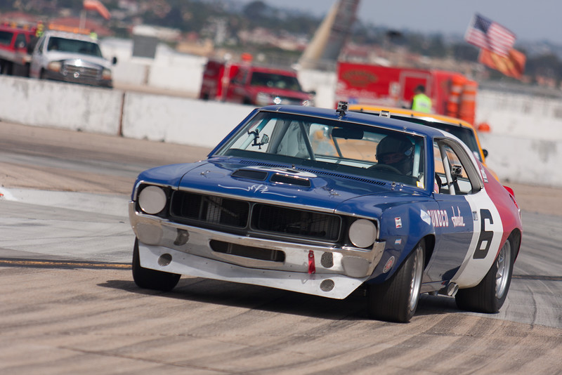 Bruce Canepa tosses the back end out on his 1970 AMC Javelin. © 2014 Victor Varela