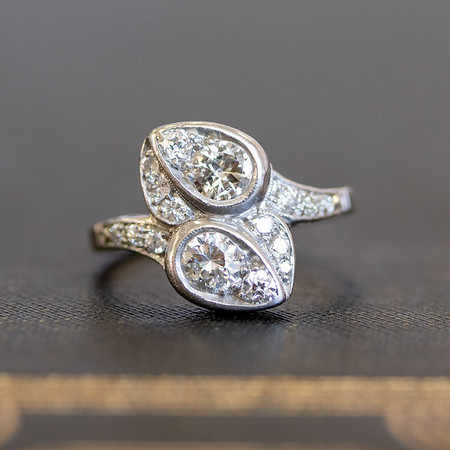 .70ctw Vintage Diamond Bypass Ring