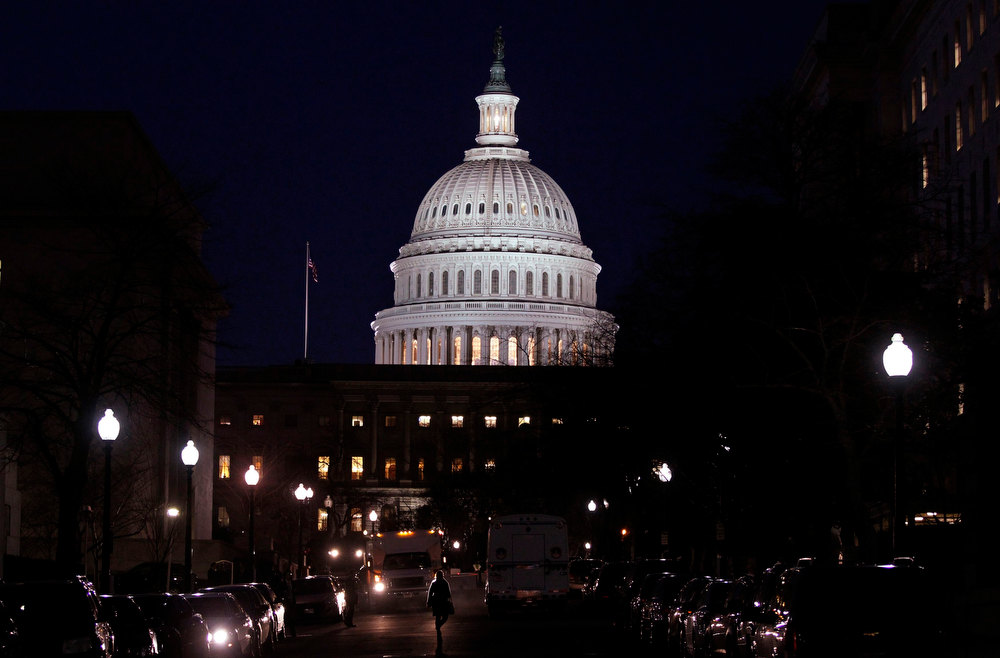 . The U.S. Capitol building is pictured before U.S. President Barack Obama delivers his State of the Union address in front of the U.S. Congress, on Capitol Hill in Washington, February 12, 2013. REUTERS/Jim Bourg