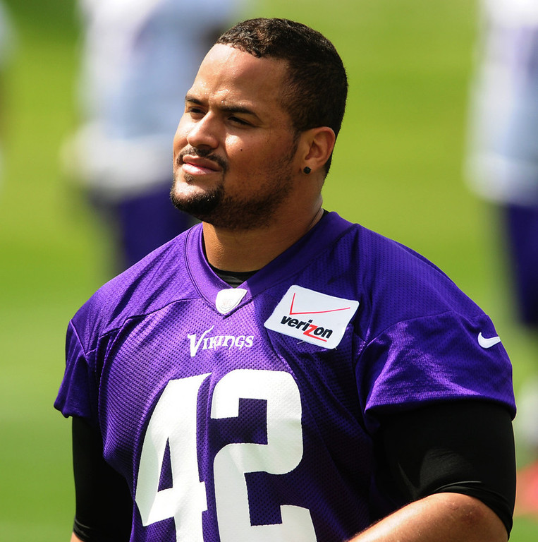 ". ""I can just be myself. I can enjoy football, like I used to, and just be the best player I can be,\"" said Vikings fullback Jerome Felton about his new three-year contract, during the team\'s minicamp on Tuesday.  (Pioneer Press: Scott Takushi)"