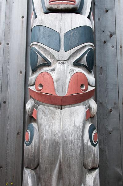 Totem Pole in Haida Heritage Center in Haida Gwaii, British Columbia