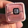 1.19ct Vintage Emerald Cut Diamond Onyx Ring, GIA E VS2 38