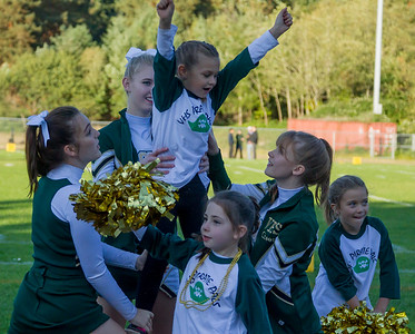Fall Cheer and Pirate Pals 2017 at Football v Coupeville  09/29/2017