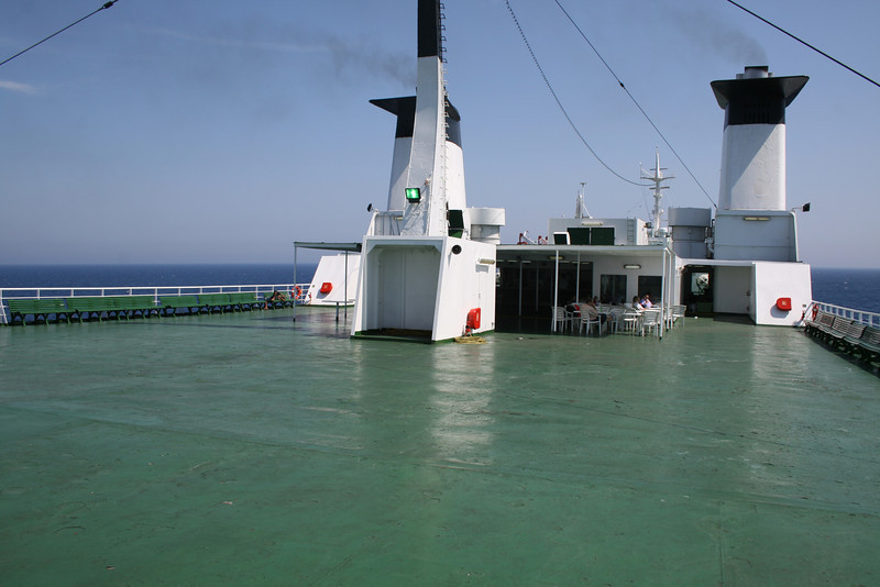 2010 - On board F/B IONIAN SKY : solarium, deck 8.