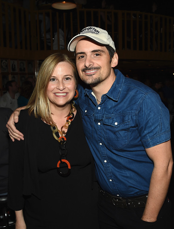 . Nashville Mayor Megan Barry and Singer/Songwriter Brad Paisley attend the 2016 Wild West Comedy Festival - Brad Paisley Hosts A Night Of Stand Up Comedy at Zanies on May 16, 2016 in Nashville, Tennessee.  (Photo by Rick Diamond/Getty Images)